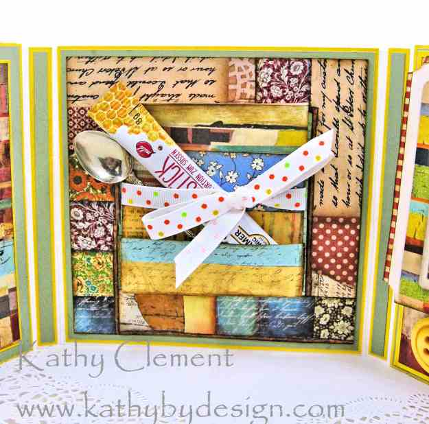 Stamperia Patchwork Tea Folio by Kathy Clement for Really Reasonable Ribbon Photo 07