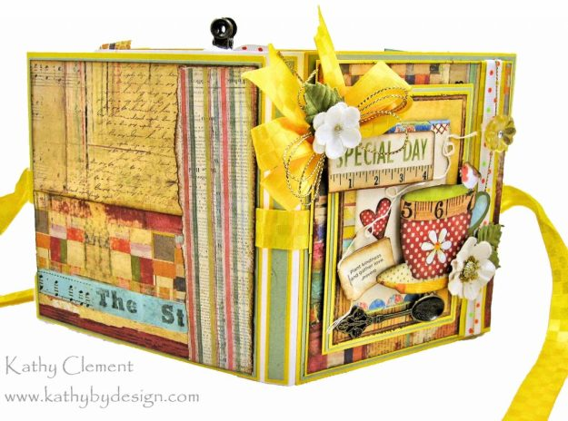 Stamperia Patchwork Tea Folio by Kathy Clement for Really Reasonable Ribbon Photo 03
