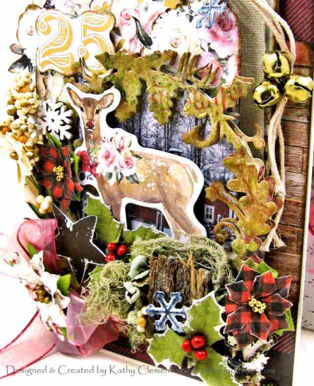 Prima Christmas in the Country Shabby Chic Card by Kathy Clement Kathy by Design Photo 01