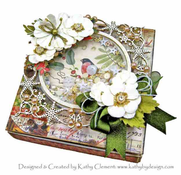 Stamperia Winter Botanic Gift Box Folio by Kathy Clement Kathy by Design