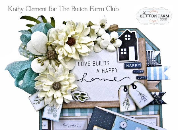 Carta Bella Home Again Altered Tim Holtz Etcetera Tag and Folio by Kathy Clement Kathy by Design for The Button Farm Club Photo 01