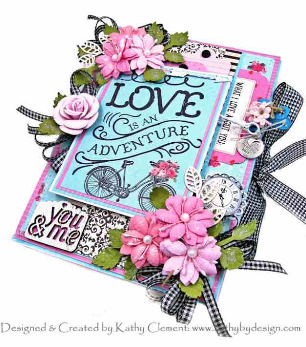 Authentique Crush Love is an Adventure Envelope Flip Book by Kathy Clement Kathy by Design Photo 01