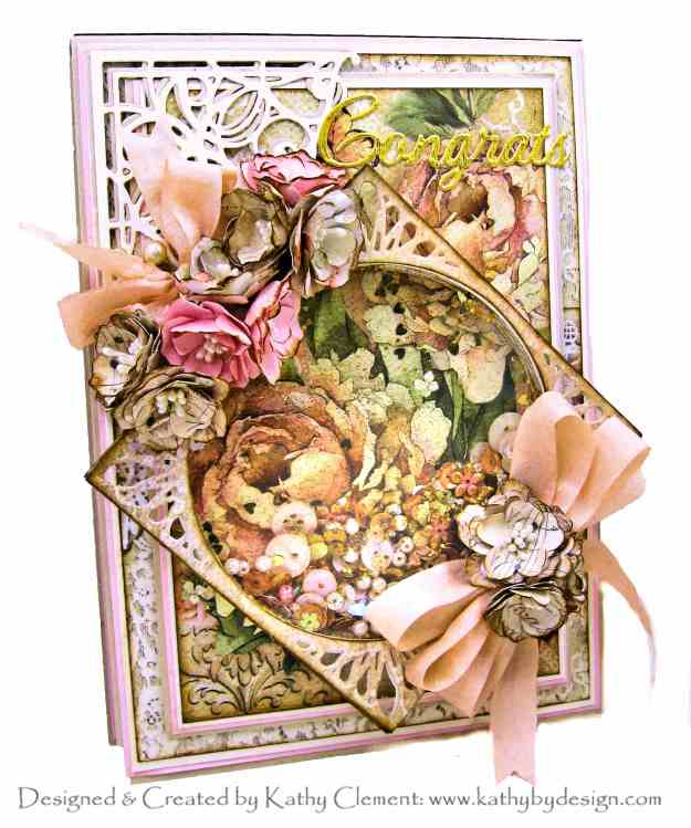 Amazing Paper Grace Die of the Month Elegant Infinity Spellbinders March 2020 Club Inspiration Blog Hop Stamperia Ceremony by Kathy Clement Kathy by Design Photo 01