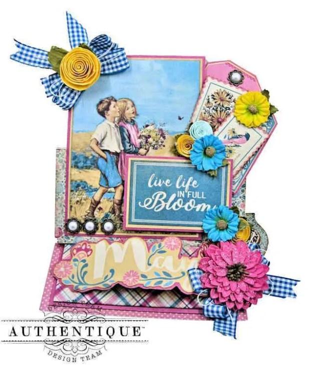 Authentique April Easel Card Calendar Folio by Kathy Clement Kathy by Design Photo 01