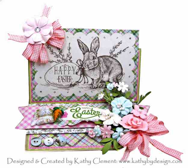 Authentique Cottontail Easter Bunny Easel Card by Kathy Clement Kathy by Design Photo 01