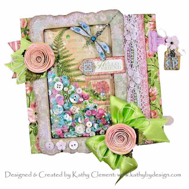 Graphic 45 Botanical Tea Double Gatefold Card Tutorial for Throwback Thursday by Kathy Clement Kathy by Design Photo 01