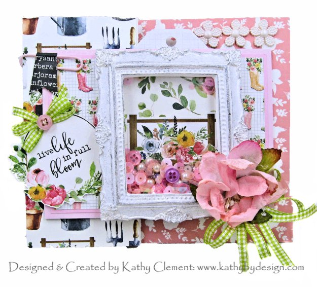Carta Bella Spring Market Shaker Card by Kathy Clement Kathy by Design Photo 01