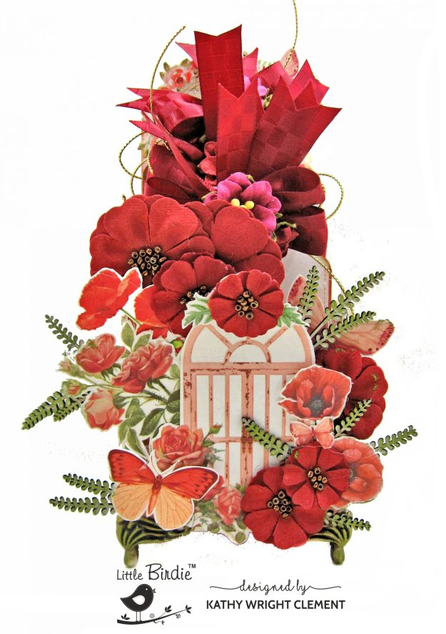 Little Birdie Crafts Poppies & Roses Altered Tag Box by Kathy Clement Kathy by Design Photo 01