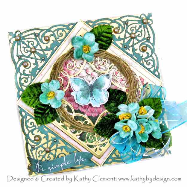 Amazing Paper Grace Fleur de Lis Grandeur Fold Over Die Spellbinders Simple Stories Vintage Garden District by Kathy Clement Kathy by Design Photo 01