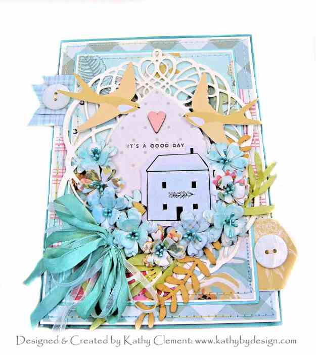 Spellbinders Amazing Paper Grace July 2020 Club Kit Fanfare Card My Mind's Eye Gingham Gardens by Kathy Clement Kathy by Design Photo 01