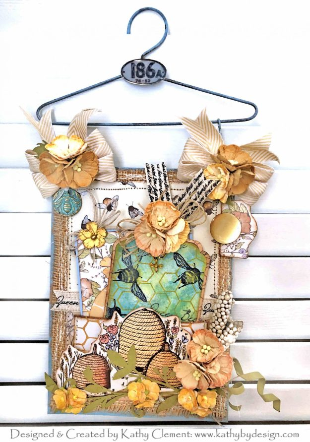 Craft Consortium Tell the Bees Hanger Card by Kathy Clement Kathy by Design Photo 01