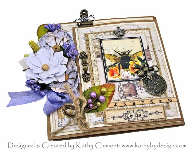 Craft Consortium Tell the Bees Joy Fold Card Tutorial for Throwback Thursday Kathy Clement Kathy by Design Photo 01