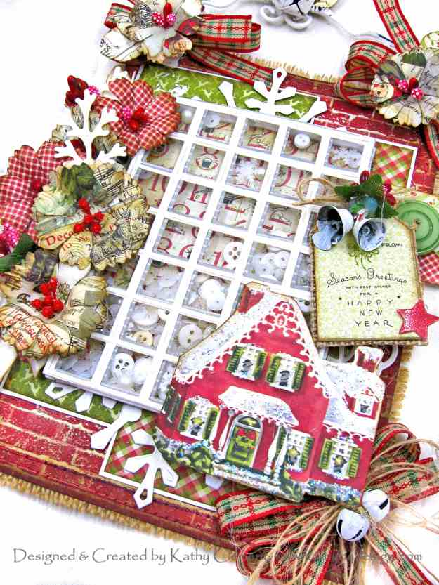 Authentique Classic Christmas Shaker Hanger with APG Snip It Grid/Calendar and Fanfare Dies by Kathy Clement Kathy by Design Photo 10