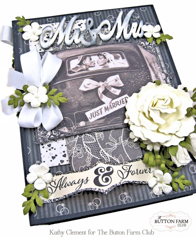 Button Farm Club Authentique Timeless Wedding Album Kit by Kathy Clement Kathy by Design Photo 01