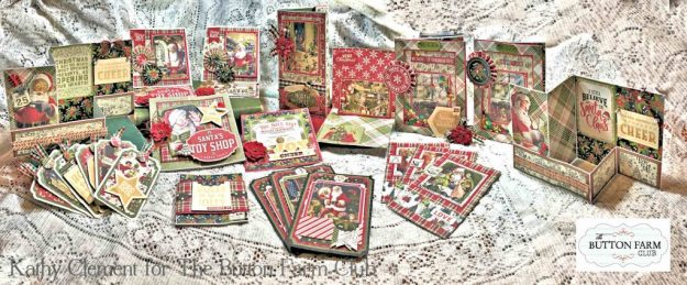 Authentique A Magical Christmas Card Kit by Kathy Clement Kathy by Design for The Button Farm Club Photo 01