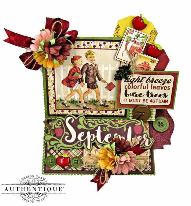 Authentique September Calendar Collection Desk Calendar Tutorial by Kathy Clement Kathy by Design Photo 01