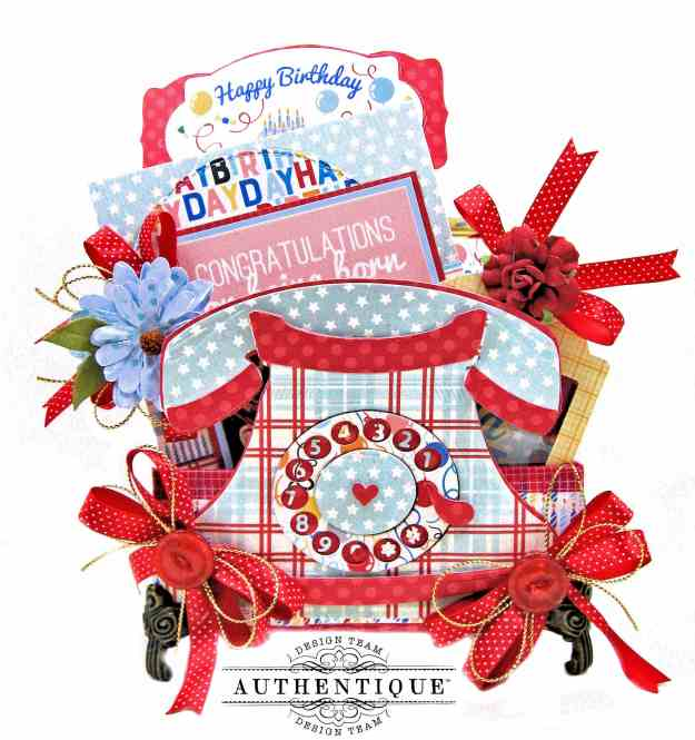 Authentique Hooray Birthday Box Amazing Paper Grace Telephone Vignette Die by Kathy Clement Kathy by Design Photo 01