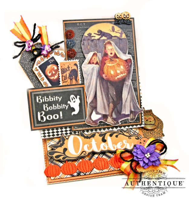 Authentique October Desk Calendar Tutorial by Kathy Clement Kathy by Design Photo 01