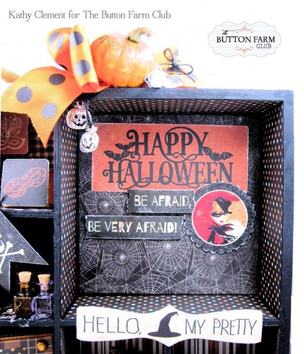 Button Farm Club Authentique Masquerade Printer's Tray Kit by Kathy Clement Kathy by Design PHoto 01