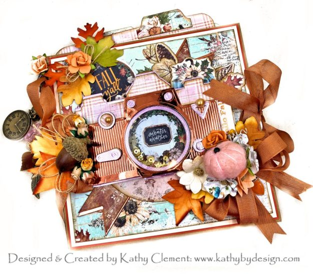 APG Pop Up Vignette Camera Spellbinders October 2020 Club Kits Blog Hop by Prima Pumpkin and Spice Kathy Clement Photo 01