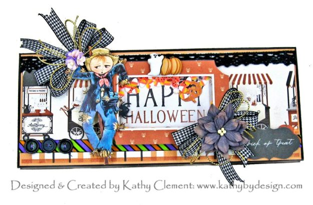 Halloween Slimline Shaker Treat Card Carta Bella Halloween Market Reneabouquets Beautiful Board by Kathy Clement Kathy by Design PHoto 01