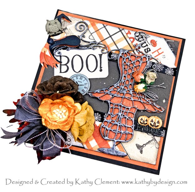 The Witch's Ball Halloween Pop Up Card by Kathy Clement kathy By Design Carta Bella Halloween Market PHoto 01