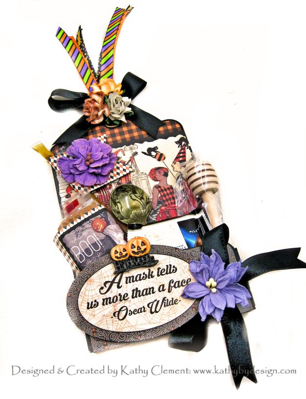 Authentique Masquerade Halloween Tea Tag by Kathy Clement Kathy by Design Photo 01