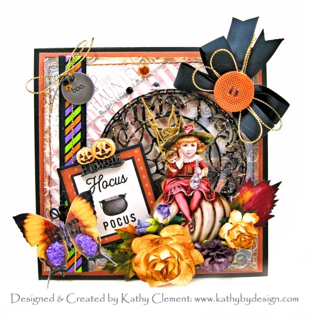 Witching Hour Pop Up Card with Carta Bella Halloween Market Reneabouquet Beautiful Board by Kathy Clement Kathy by Design Photo 01