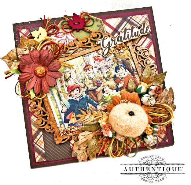 Happy Thanksgiving Photo Folio Authentique November Calendar by Kathy Clement Kathy by Design for Really Reasonable Ribbon Photo 01