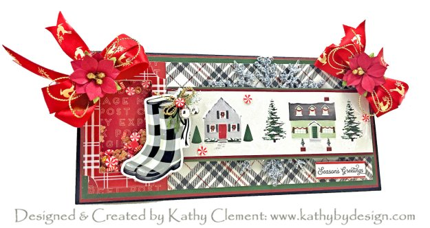 Carta Bella Christmas Delivery Farmhouse Christmas Christmas Market Chocolate Box Card by Kathy Clement Kathy by Design Photo 01