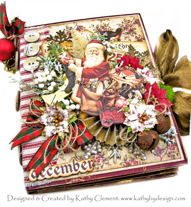 Prima Victorian Christmas Envelope Mini Album Tutorial for Throwback Thursday by Kathy Clement Kathy by Design Photo 01