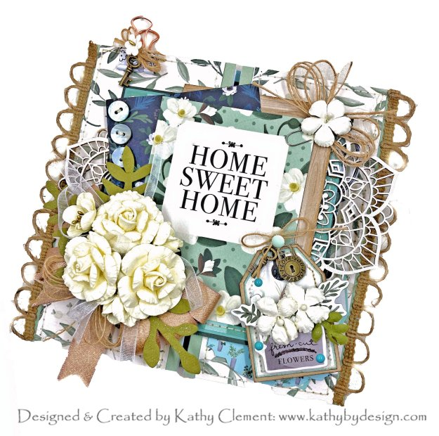 Carta Bella Home Again Shabby Chic Card Tutorial Kathy Clement Kathy by Design Photo 01