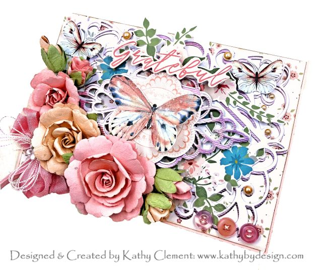Spellbinders Club Kits Blog Hop February 2021 Kaisercraft Flower Shoppe Card by Kathy Clement Photo 01