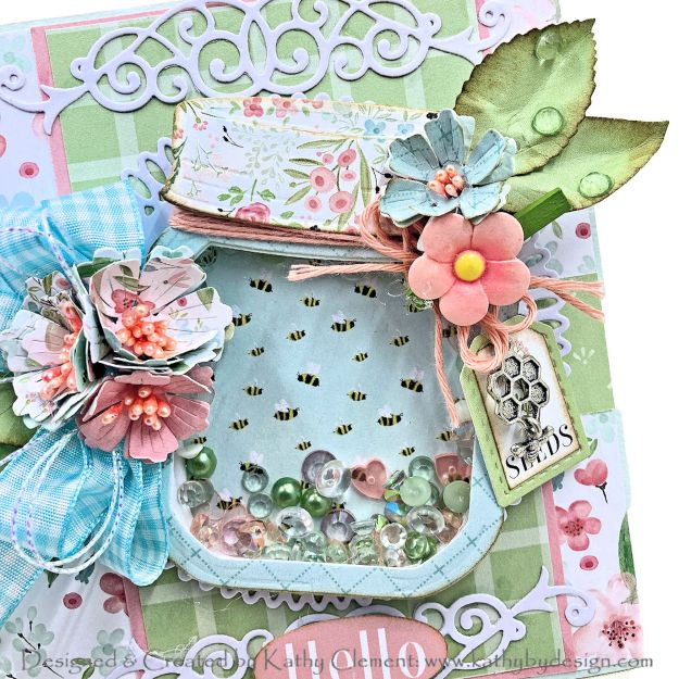 Spellbinders Amazing Paper Grace Floral Mason Jar Die of the Month by Kathy Clement Kathy by Design Photo 01