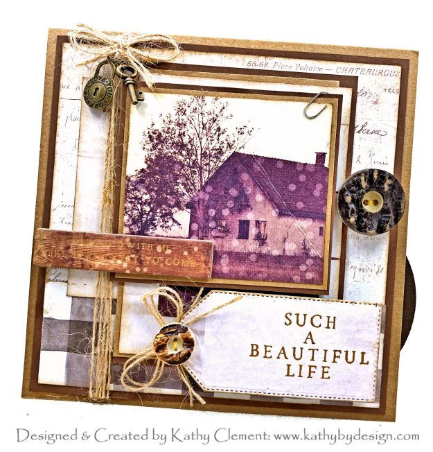 Prima Spring Farmhouse Pop Up Anniversary Card by Kathy Clement Kathy by Design Photo 01