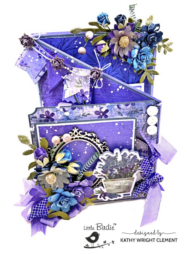 Little Birdie Purple Passion Zig-Zag Card by Kathy Clement Kathy by Design Photo 01