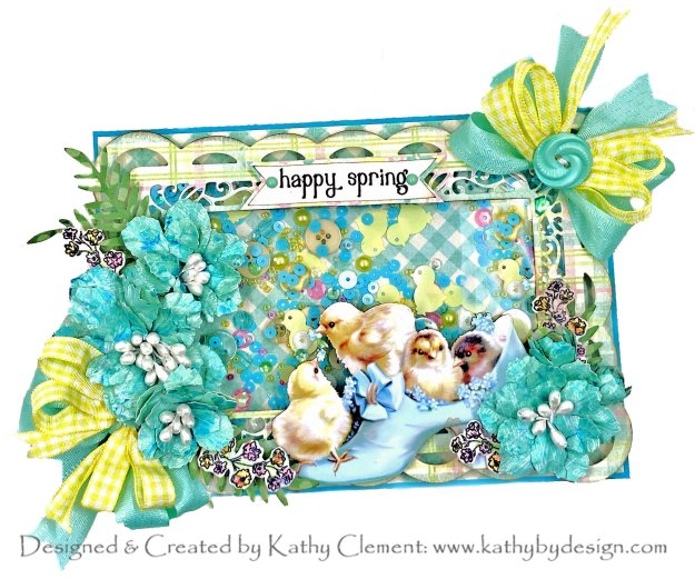 Spellbinders Make a Scene Collection Becca Feeken Reneabouquets Shaker Card by Kathy Clement Photo 01