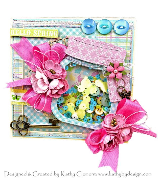 Spellbinders APG DOM Vignette Floral Mason Jar by Kathy Clement Kathy by Design Photo 01