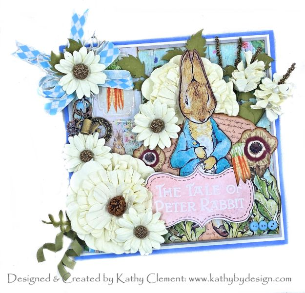 Memory Place Peter's World Peter Rabbit's Flower Garden Card by Kathy Clement Photo 01