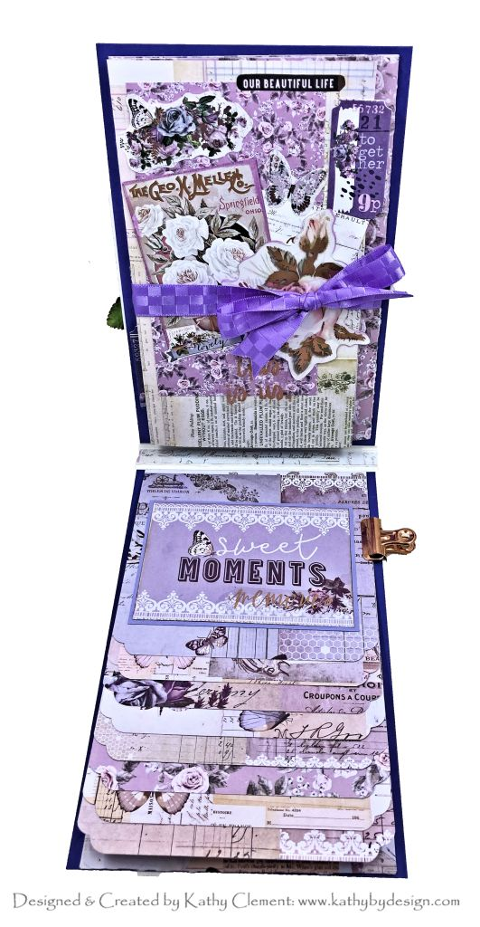 Party Dress Card Folio Prima Lavender by Kathy Clement
