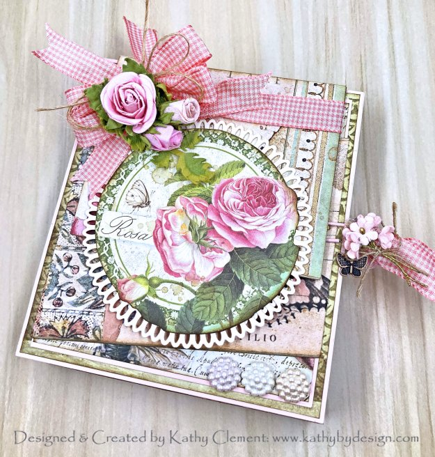Stamperia Spring Botanic Gift Box Card by Kathy Clement Kathy by Design PHoto 01