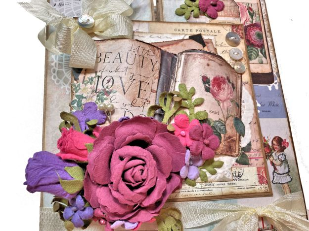 Button Farm Club Memory Place Floral Tapestry Folio Kit Reveal by Kathy Clement PHoto 01
