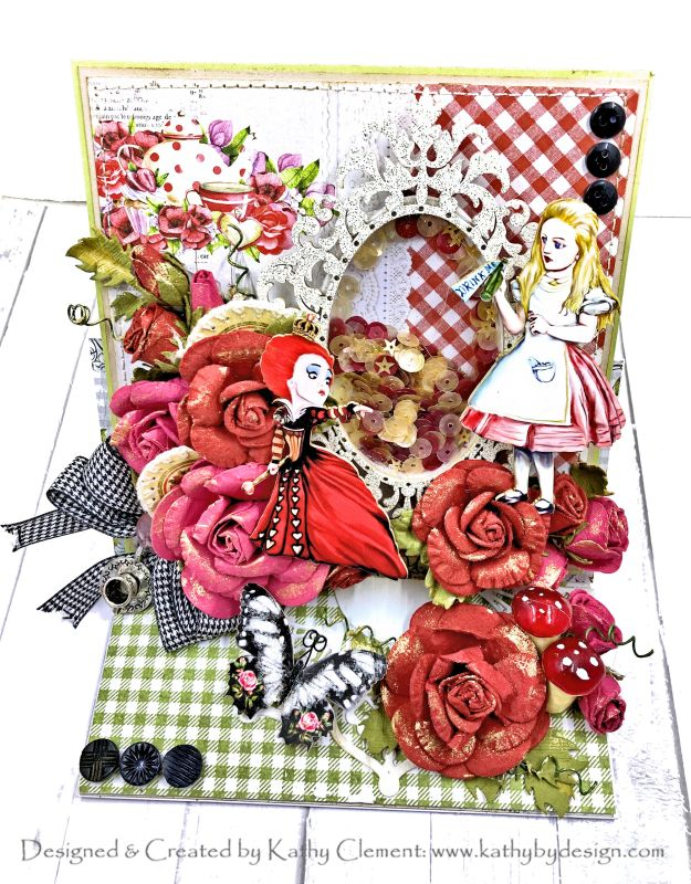 Reneabouquets Alice Printed Beautiful Board by Kathy Clement Photo 01