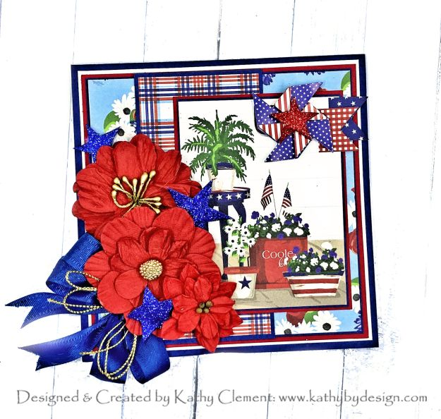 Carta Bella God Bless America Greeting Card by Kathy Clement Photo 01