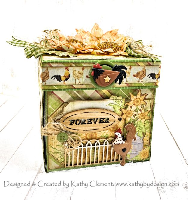 Heartfelt Creations Home on the Farm Exploding Tea Party in a Box by Kathy Clement Photo 01