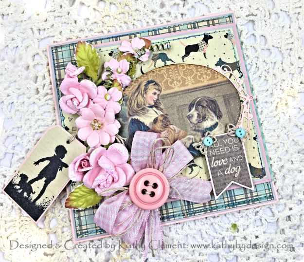Throwback Thursday Authentique Purebred Fun Fold Card Tutorial by Kathy Clement Photo 01