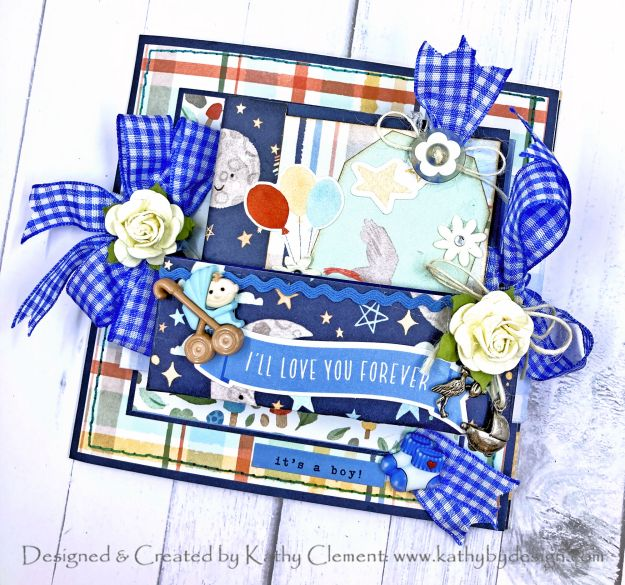 Echo Park Welcome Baby Boy Folio Tutorial by Kathy Clement Photo 01