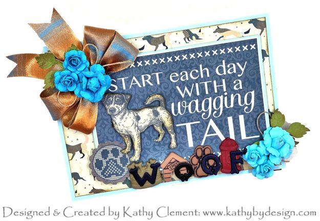 Authentique Purebred Birthday Easel Card by Kathy Clement Photo 01