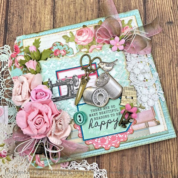 Kaisercraft Miss Betty Sewing Themed Card for Throwback Thursday by Kathy Clement Photo 01