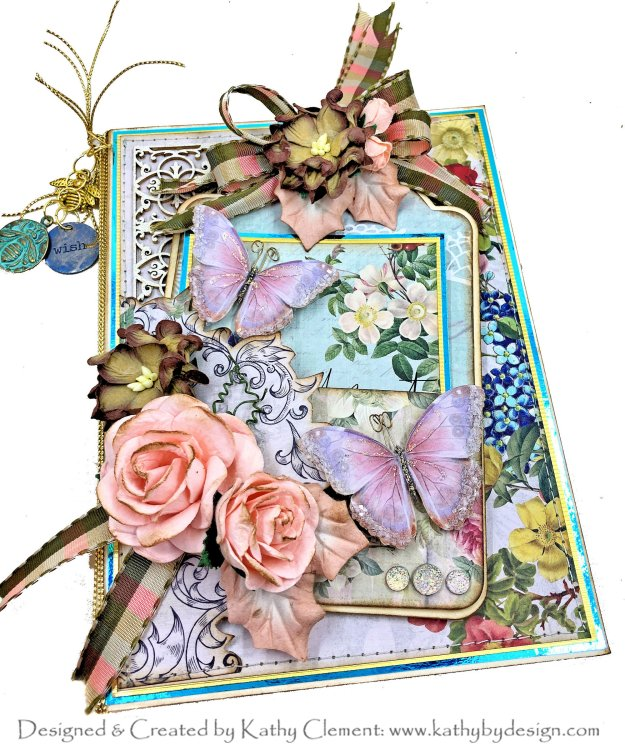 Throwback Thursday Memory Place Floral Tapestry Tag and Pocket Card Tutorial by Kathy Clement